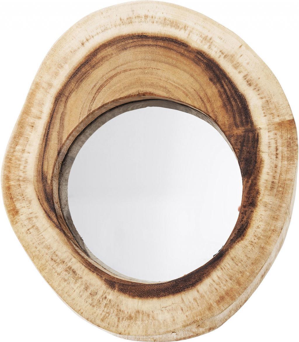 kare design spiegel root 30cm teakhout. Black Bedroom Furniture Sets. Home Design Ideas